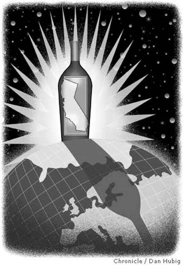 The rise of American wines. Chronicle illustration by Dan Hubig