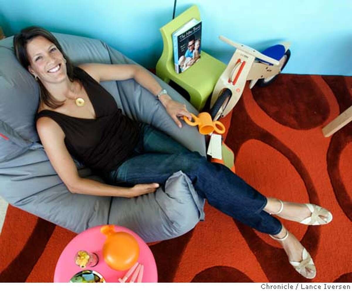 DESIGNERS0731_0032.jpg_ Melissa Pfeiffer is one of three women designers who cater to kid's, by offering clothes, toys or furniture. Pfeiffer sells children�s furniture and toys in her Oakland shop at 4456 Piedmont Ave. By Lance Iversen/San Francisco Chronicle