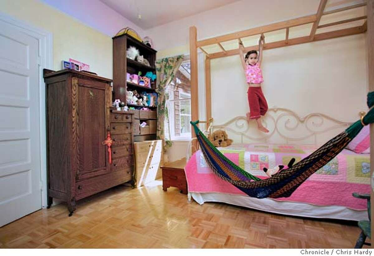 Story about kids' room design, this is a girls room at 3049 Wheeler st. in Berkeley 5/25/05 Chris Hardy / San Francisco Chronicle