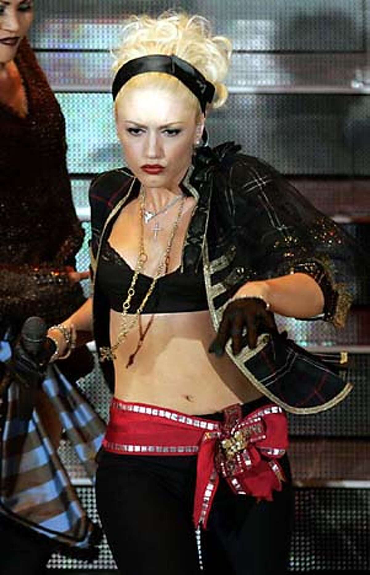 U.S. pop star and actress Gwen Stefani performs during the Festival di Sanremo Italian Songs contest, in San Remo, Italy, Friday, March 4, 2005. Gwen Stefani is one of the international guest stars featured in the show. (AP Photo/Luca Bruno) Ran on: 03-20-2005 Gwen Stefani made no friends with New Order.