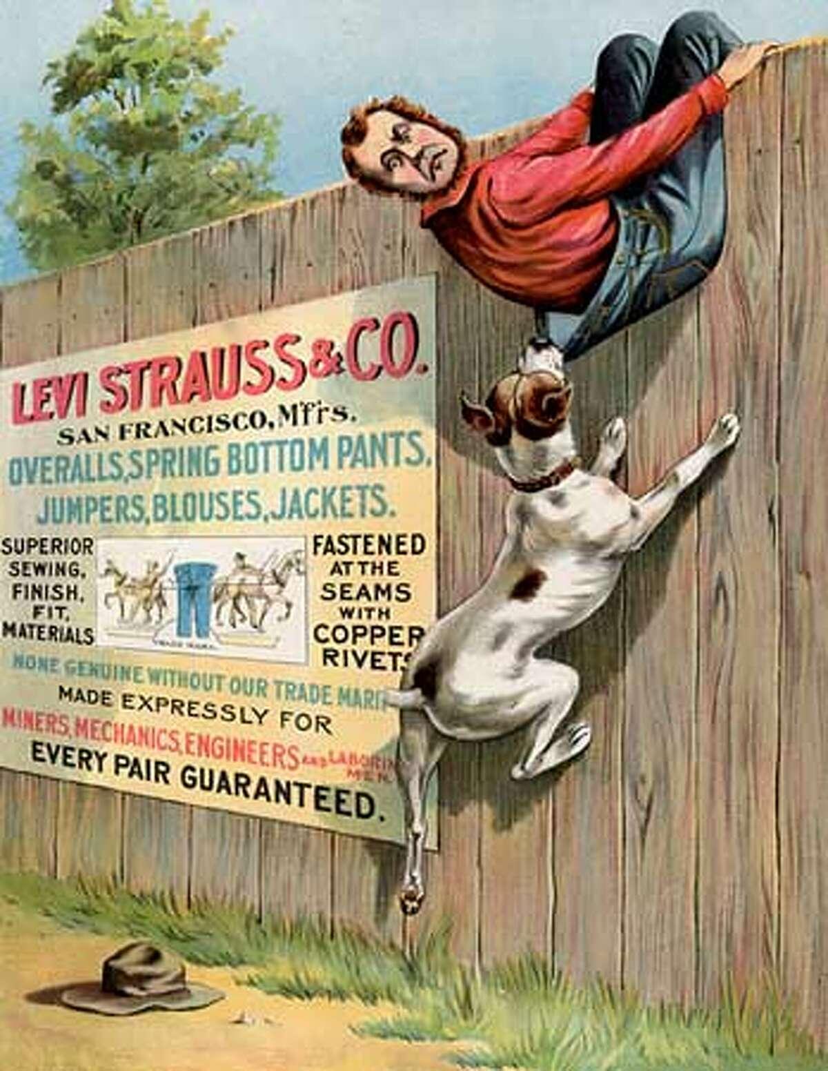 Levi's Advertising: 1899. Photo courtesy of Levi Strauss & Co.