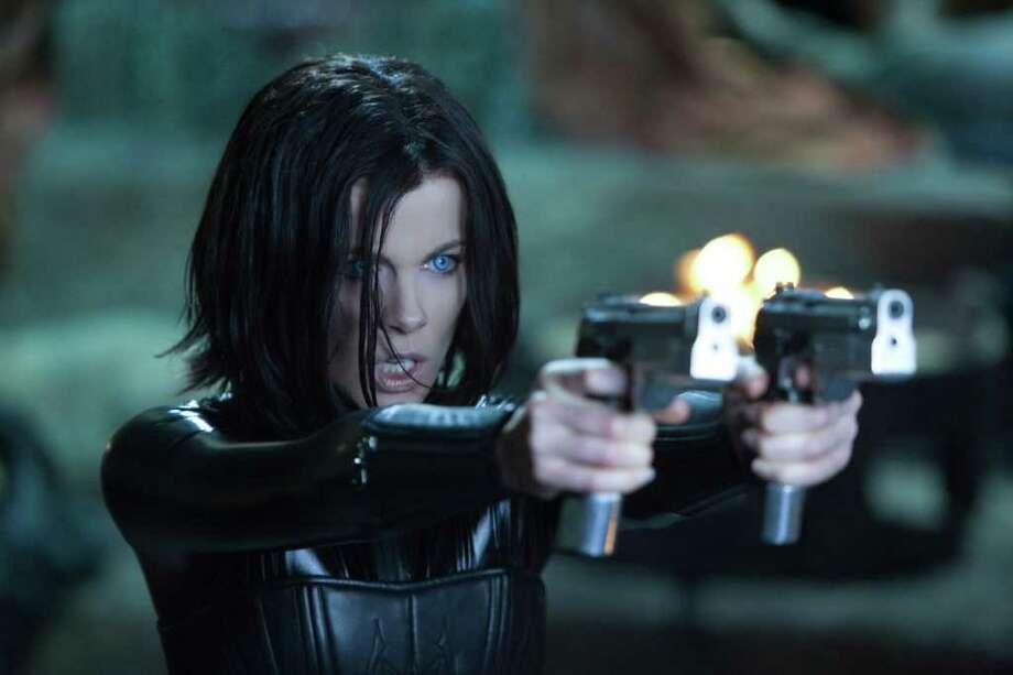 Kate Beckinsale reprises her role as vampire warrior Selene in the fourth installment of the Underworld franchise, Underworld: Awakening. / Sony Pictures Entertainment