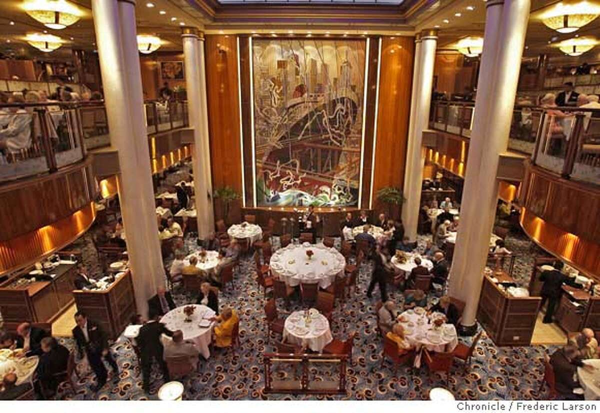 The main dinning room of the Queen Mary 2 which will arrive in San Francisco Feburary 4th. Photograph by Frederic Larson/SF Chronicle