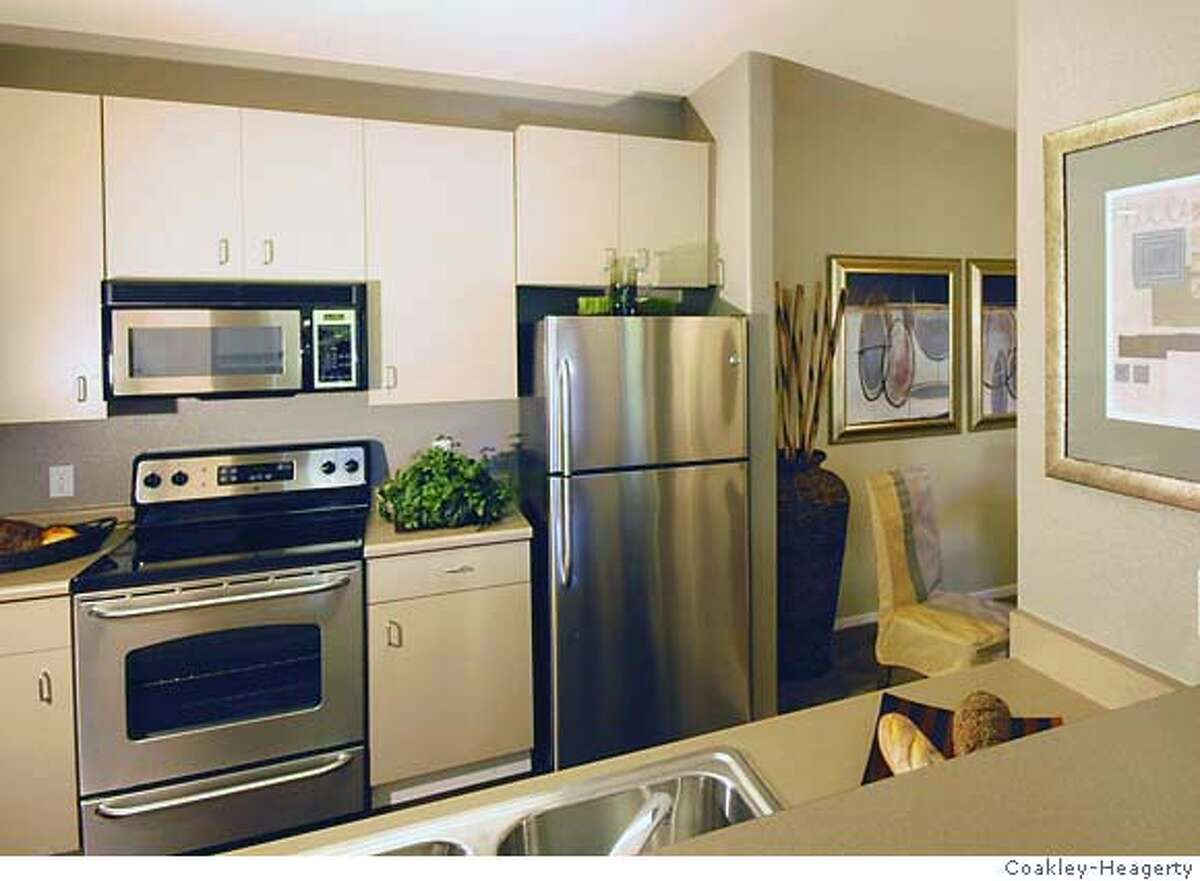 Typical kitchen at Montevista a condo conversion of 72 units in Union City. Priced from $354,000 to $454,000.