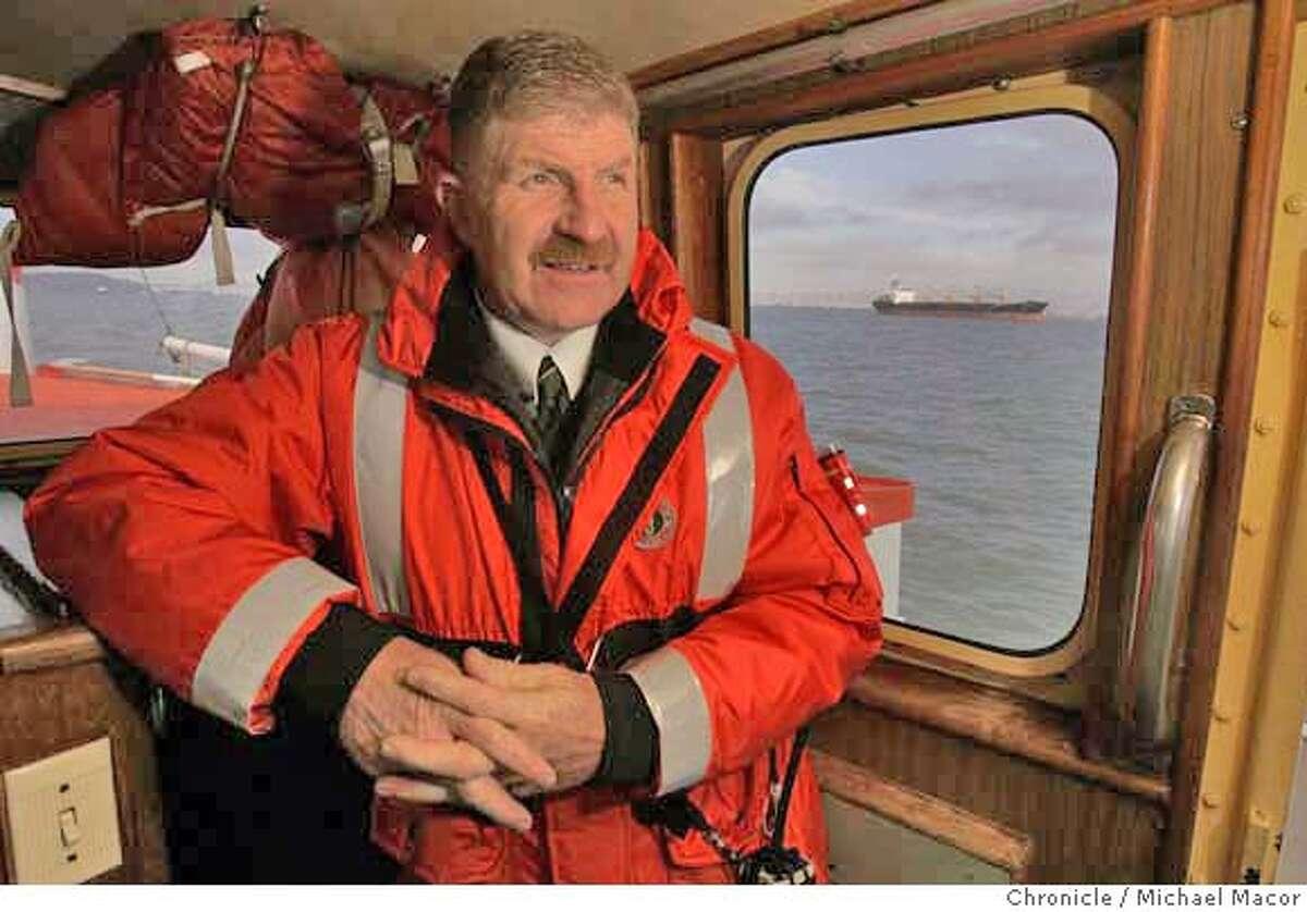 pilot_050_mac.jpg Captain Miller aboard one of the pilot boats traveling across San Francsico Bay. Captain Tom Miller,