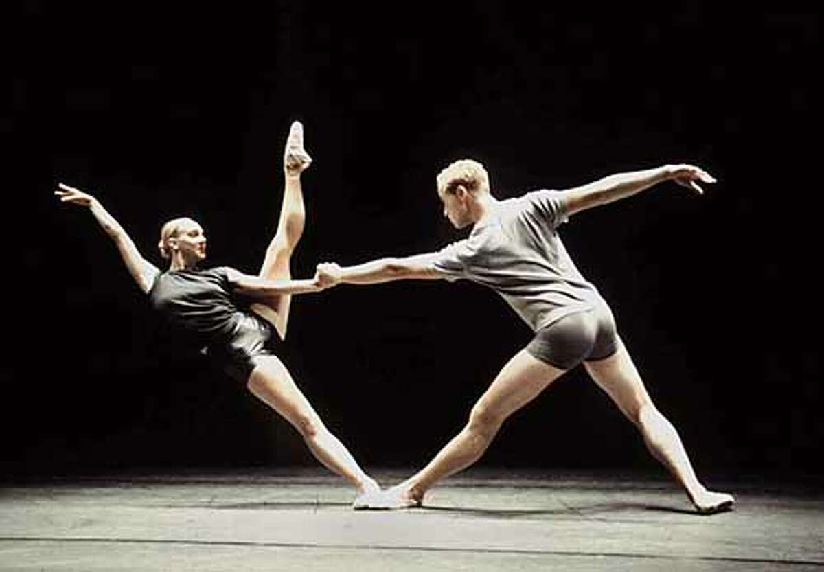 Photo of ODC dancers Whitney Simler and Michael Separovich in