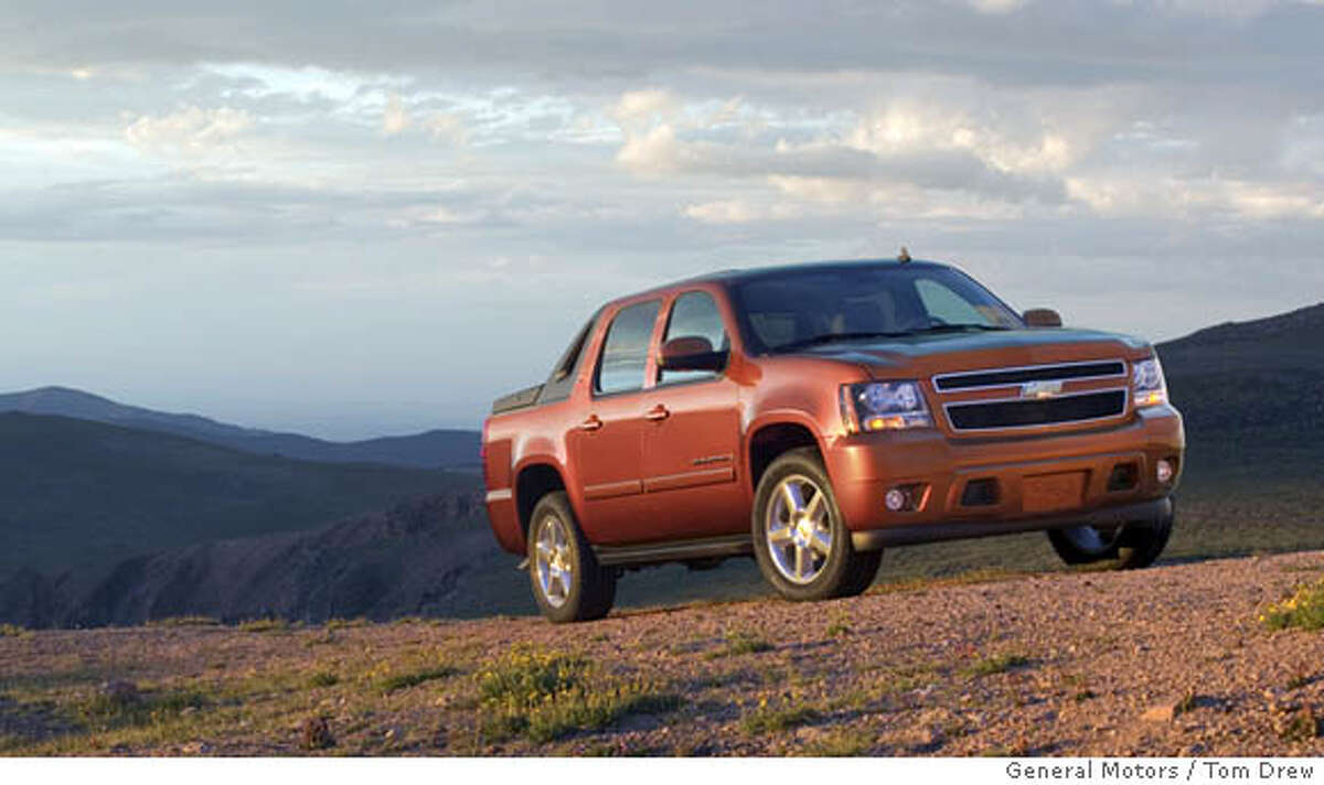 General Motors will introduce the all-new 2007 Chevrolet Avalanche, the latest rollout of its next-generation full-size truck family and the industry�s most flexible utility vehicle, at the Chicago Auto Show next week. When introduced in 2002, the Avalanche created an all-new segment by combining the passenger-comfort attributes of a SUV with the cargo capability of a truck. The all-new 2007 Avalanche builds on that legacy and features more power with improved, segment-leading fuel economy and flex-fuel capability on some models; increased interior refinement; and world-class safety. The Avalanche will go on sale in the second quarter of 2006. Photo by Tom Drew/General Motors