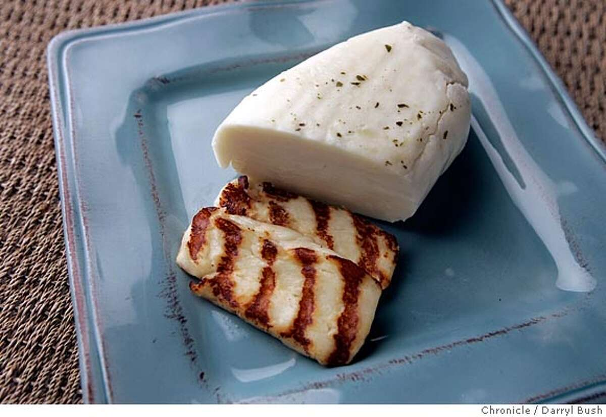 Haloumi cheese (grilled) Event on 7/14/05 in San Francisco. Darryl Bush / The Chronicle (Styling by Amanda Gold)