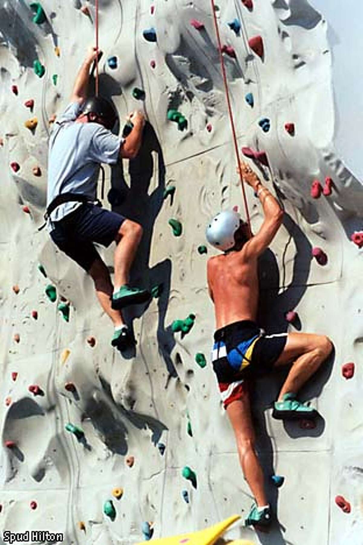 Passengers make use of the ship's climbing wall. Photo by Spud Hilton, special to the Chronicle
