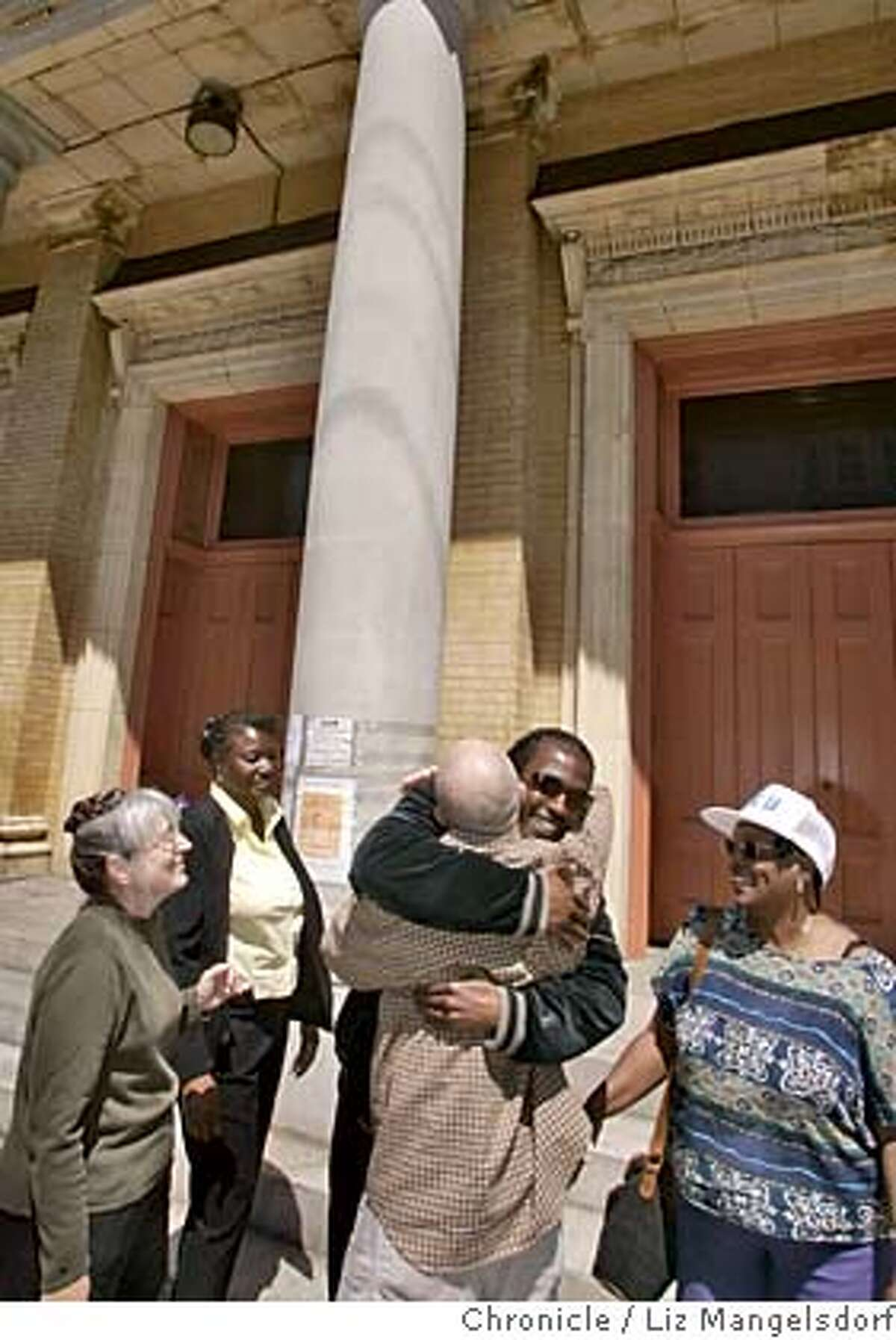 sacredheart088_lm.JPG Event on 7/27/05 in San Francisco. Parishioners greet each other in front of their church, Sacred Heart Church, on Fillmore Street. Folks from Sacred Heart church gather in front of the church on Fillmore Street after it was purchased and hopefully will be reopened. Liz Mangelsdorf / The Chronicle MANDATORY CREDIT FOR PHOTOG AND SF CHRONICLE/ -MAGS OUT