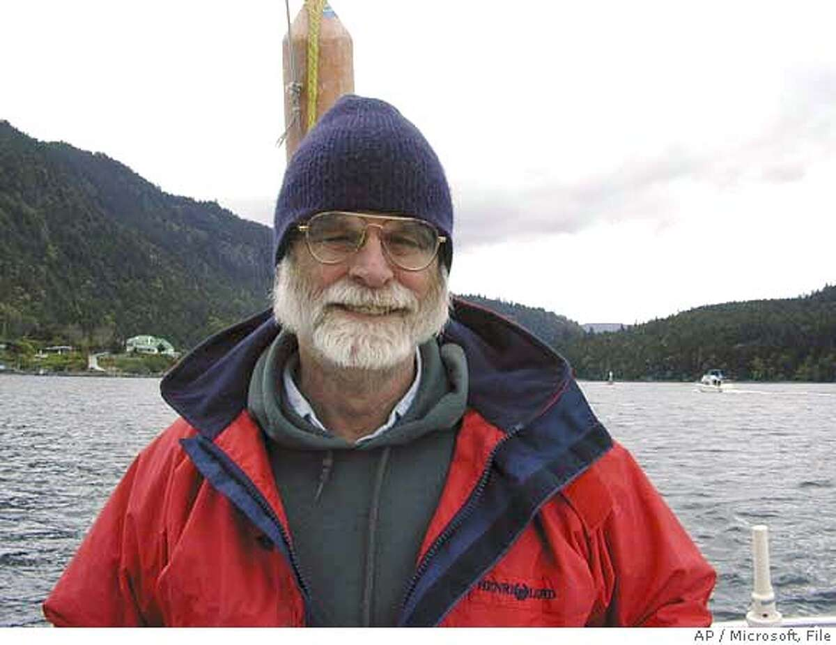 This undated photo provided by Microsoft shows Jim Gray, 63, of San Francisco. The U.S. Coast Guard searched the waters off Northern California Wednesday, Jan 31, 2007, for Gray, a prominent computer scientist, who never returned from a sailing trip to scatter his mother's ashes at sea. (AP Photo/Microsoft) ** ** Ran on: 02-01-2007 Jim Gray never returned from a voyage to the Farallones to scatter his mothers ashes. Ran on: 02-01-2007 Jim Gray never returned from a voyage to the Farallones to scatter his mothers ashes. UNDATED PHOTO PROVIDED BY MICROSOFT;
