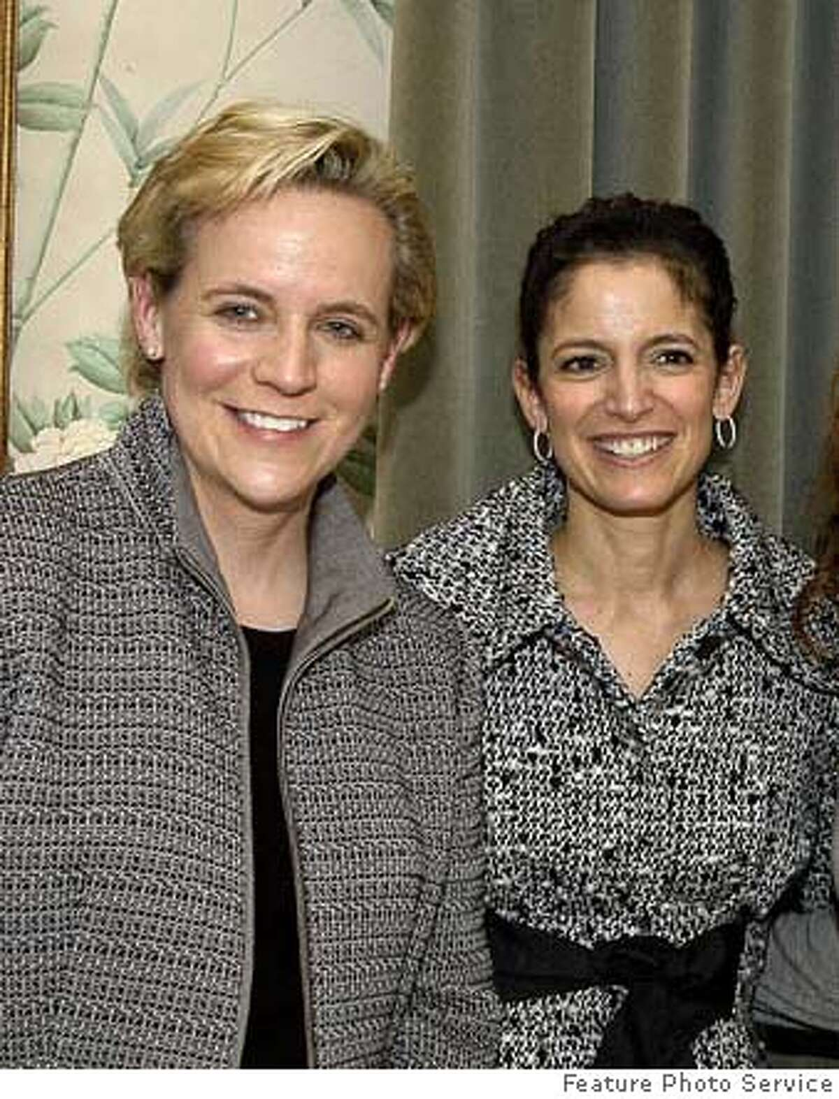 Glamour Editor in Chief Cindi Leive with panelist Mary Cheney at the magazine's