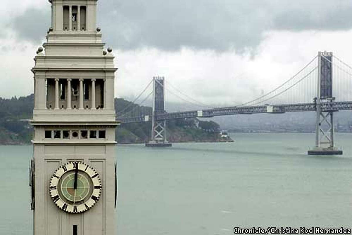 Ferry building clock tower is always set at
