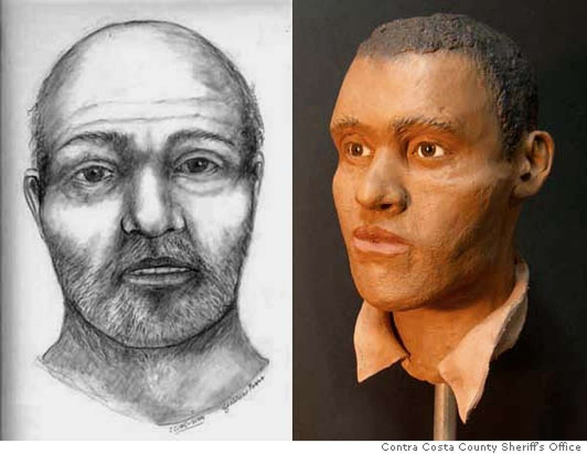 Sketch AND bust for JOHNDOES Credit: Courtesy of Contra Costa County Sheriff's Office