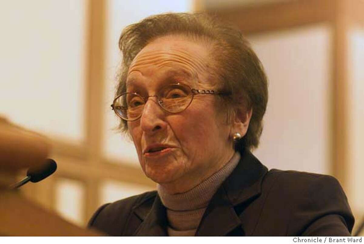 MUNI BLACK-10FEB00-MN-BW--Shirley Breyer Black, appointed to the MUNI Transportation Agency. By Brant Ward/Chronicle CAT