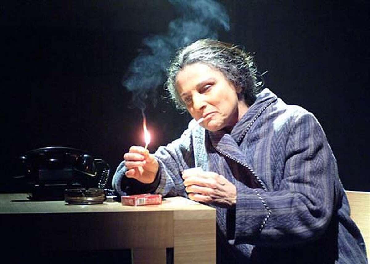 Tovah Feldshuh as Golda Meir in Golda's Balcony. 2005 Photo credited to Aaron Epstein