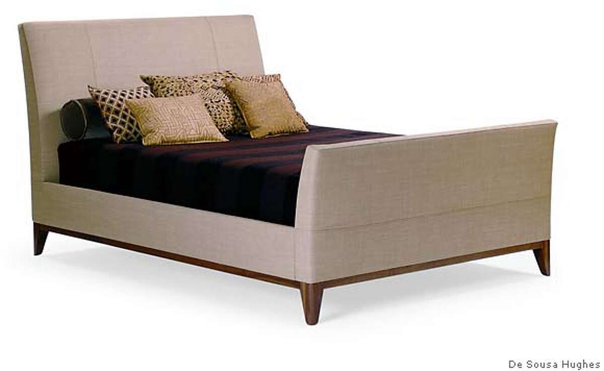Ted Boerner calls his newest bed Drift. Upholstered with rounded corners and legs, it premiered at De Sousa Hughes during Winter Market. Available to the design trade only. Photo courtesy of De Sousa Hughes