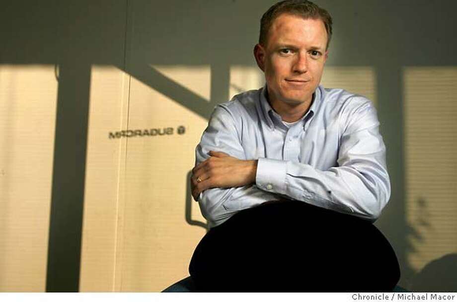 .jpg Johns Roberts is CEO of the Open Source Software company SugarCRM in Cupertino. Photographed in, Cupertino, Ca, on 1/18/07. Photo by: Michael Macor/ San Francisco Chronicle Mandatory credit for Photographer and San Francisco Chronicle / Magazines Out Photo: Michael Macor