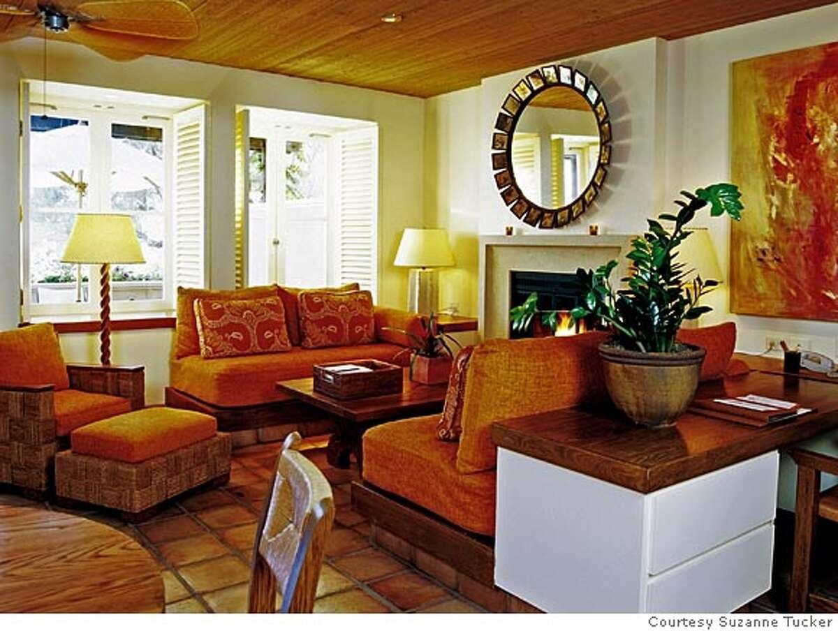 Auberge du Soleil sitting area, after Courtesy Suzanne Tucker