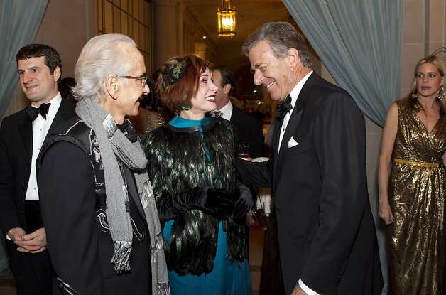 Norman Stone and Norah Stone talk with Paul Pelosi (left to right) during cocktail hour at the San Francisco Ballet Opening Night Gala in City Hall in San Francisco, Calif., on Thursday, January 19, 2012. Photo: Laura Morton, Special To The Chronicle