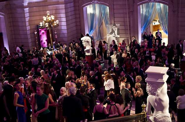 Guests of the after party for the San Francisco Ballet Opening Night Gala fill up City Hall in San Francisco, Calif., on Thursday, January 19, 2011. Photo: Laura Morton, Special To The Chronicle
