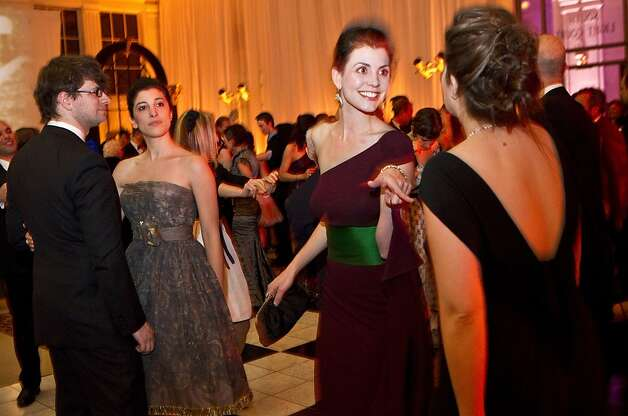 Jenny Georges (second from right) enjoys the dance floor at the after party for the San Francisco Ballet Opening Night Gala at City Hall in San Francisco, Calif., on Thursday, January 19, 2011. Photo: Laura Morton, Special To The Chronicle