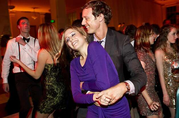 Abby Wohl and Chris Pessy enjoy the dance floor while attending the after party for the San Francisco Ballet Opening Night Gala at City Hall in San Francisco, Calif., on Thursday, January 19, 2011. Photo: Laura Morton, Special To The Chronicle