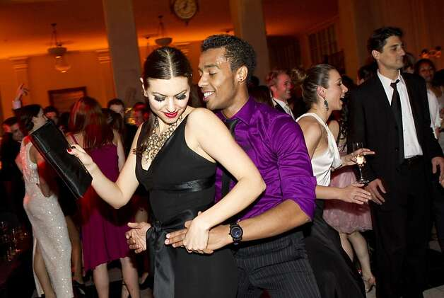 Ria Gassoumis dances with Daniel Deivison while attending the after party for the San Francisco Ballet Opening Night Gala at City Hall in San Francisco, Calif., on Thursday, January 19, 2011. Photo: Laura Morton, Special To The Chronicle