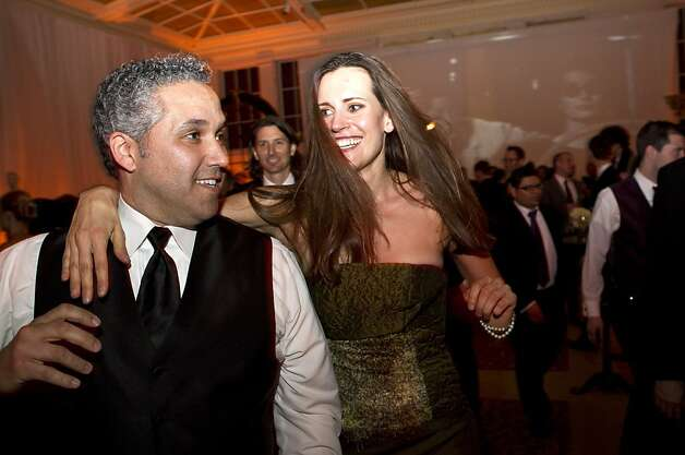Gabriel Baldinucci and Ashley Tudor take advantage of the dance floor while attending the after party for the San Francisco Ballet Opening Night Gala at City Hall in San Francisco, Calif., on Thursday, January 19, 2011. Photo: Laura Morton, Special To The Chronicle