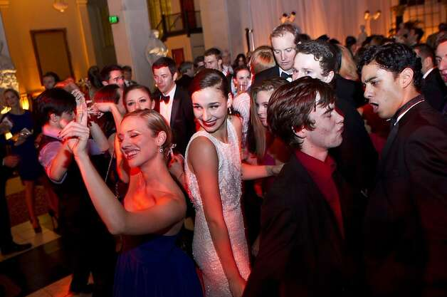 San Francisco Ballet School student Abbie Tilton (center) dances with other students of the school and company members during the after party for the San Francisco Ballet Opening Night Gala at City Hall in San Francisco, Calif., on Thursday, January 19, 2011. Photo: Laura Morton, Special To The Chronicle