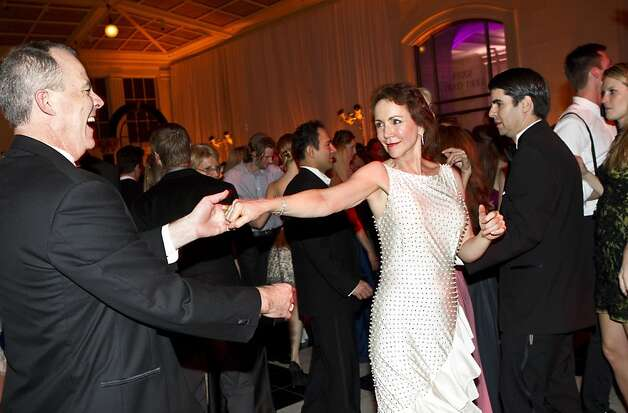 Alex Mayer and Suzanne Muntzing dance with each other during the after party for the San Francisco Ballet Opening Night Gala at City Hall in San Francisco, Calif., on Thursday, January 19, 2011. Photo: Laura Morton, Special To The Chronicle