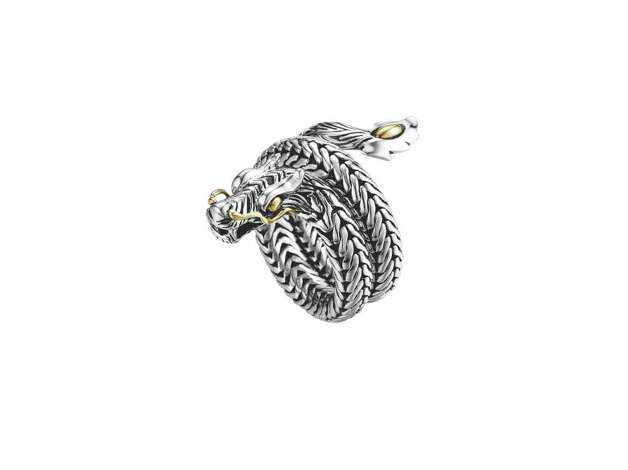 A ring from John Hardy's Naga Collection features the dragon in gold and silver. Photo: John Hardy