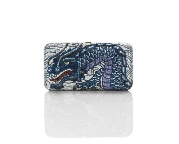 Judith Leiber Azure Dragon clutch,  $4,794, Photo: Judith Leiber