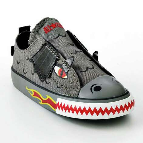 dragon: Converse Chuck Taylor All Star Dragon for  Toddlers, $32; Dragon Skateboard Mock-Layer Tee for Boys,  $25; Helix  Dragon Canvas Belt,  $20; All from Kohl's. Photo: Kohl's