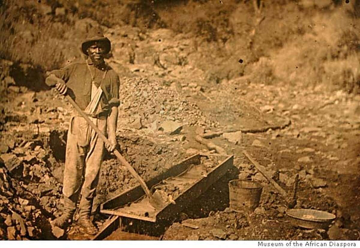 """This Quarter plate daguerreotype attributed to J.B. Starkweather, c. 1852, titled African American Miner is among the pieces on display at The Museum of African Diaspora. M.O.A.D. presents """"Slavery: Inhuman History."""" A look at slavery on the East coast and the west coast. THURSDAY, JANUARY 25, 2007 KURT ROGERS/THE CHRONICLE SAN FRANCISCO THE CHRONICLE SFC SLAVERY27_0005_kr.jpg MANDATORY CREDIT FOR PHOTOG AND SF CHRONICLE / -MAGS OUT"""