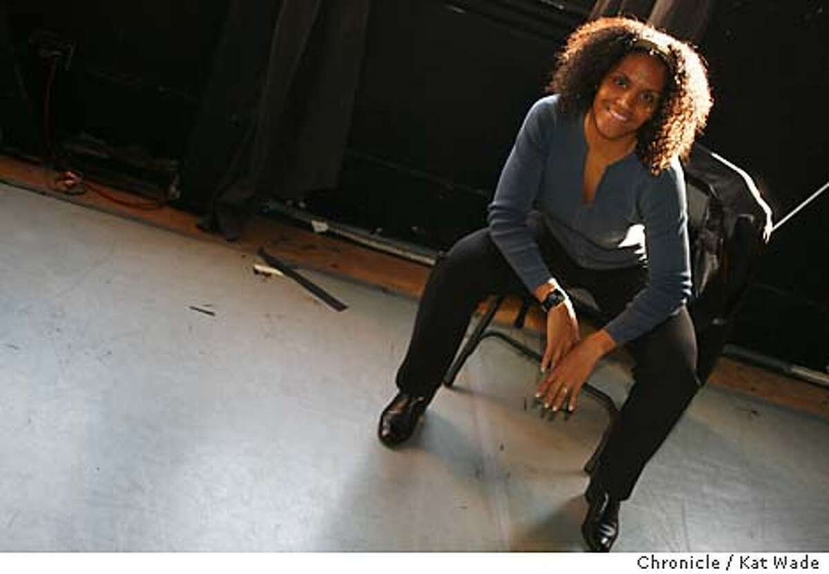 On 1/25/06 in San Francisco Laura Elaine Ellis one of the co-founders of the Black Choreographers Dance Festival in February, poses for a portrait after a showing at the Dance Mission Theater of two of the dances that will be performed at the festival . Kat Wade/The Chronicle