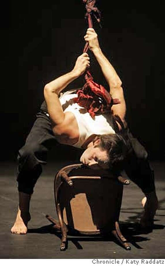 "MILKTRACES_033_RAD.jpg SHOWN: Shinichi Iova-Koga in a dance event called ""Milktraces"" at the Brava Theater in San Francisco, CA. This is a dress rehearsal. These photos were made on Thursday, Jan. 18, 2007, in San Francisco, CA. (Katy Raddatz/SF Chronicle  **Shinichi Iova-Koga Photo: Katy Raddatz"