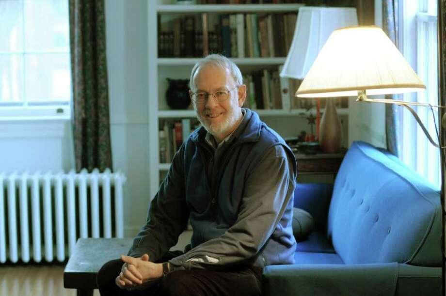 Peace activist David Easter poses for a photograph at his home on Thursday, Jan. 19, 2012 in Bethlehem, NY.   (Paul Buckowski / Times Union) Photo: Paul Buckowski