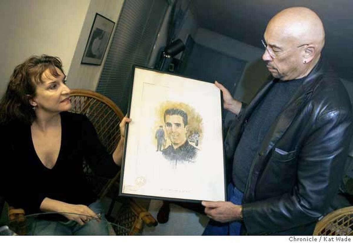 COPKILLED_UNSOLVED2_052_KW_.jpg On Thursday January 25, 2007 Officer Richard Radetich's sister, Jo-Ellen Radetich and cousin, Ronald B. Radetich show off a portrait that was done by Richard's partner at the time of his death in 1970. Jo-Ellen Radetich was 16-years-old when her brother, San Francisco Police officer Richard Radetich, 25, was shot to death while sitting in his patrol car writing a traffic report. Radetich's death was one of a rash of unsolved killings of San Francisco police officers in the late 1960's and 1970's that are being revisited in hopes that the public attention of the arrests in the 1971 killing of Sgt. John V. Young may generate new leads. The SFPD are offering a $100,000 reward in Radetich's case. Kat Wade/The Chronicle Mandatory Credit for San Francisco Chronicle and photographer, Kat Wade, Mags out