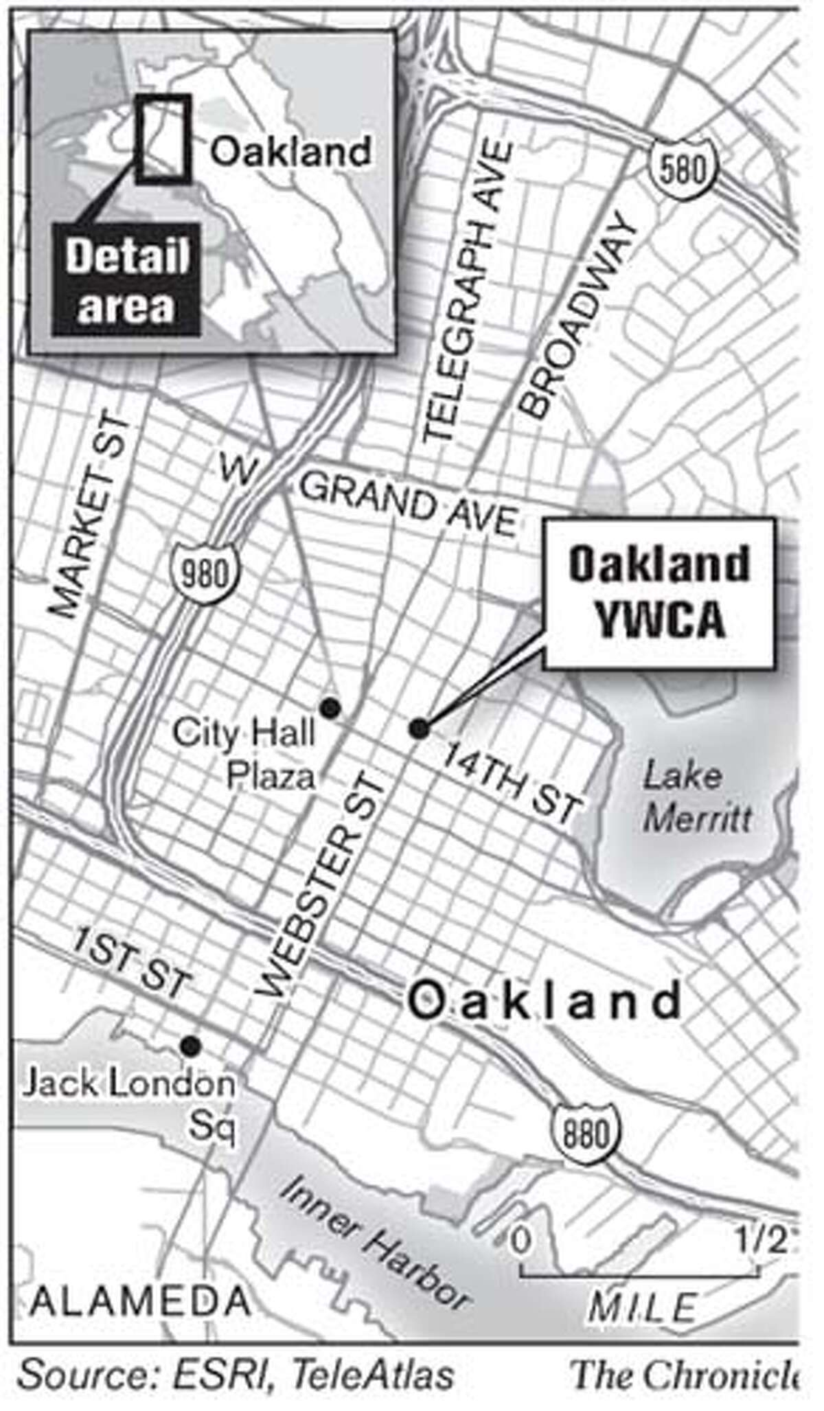 Oakland YWCA. Chronicle Graphic