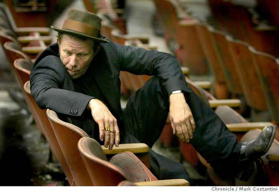 Portrait Of Singer Tom Waits Inside The New Mission Theater An Old Closed Vaudeville