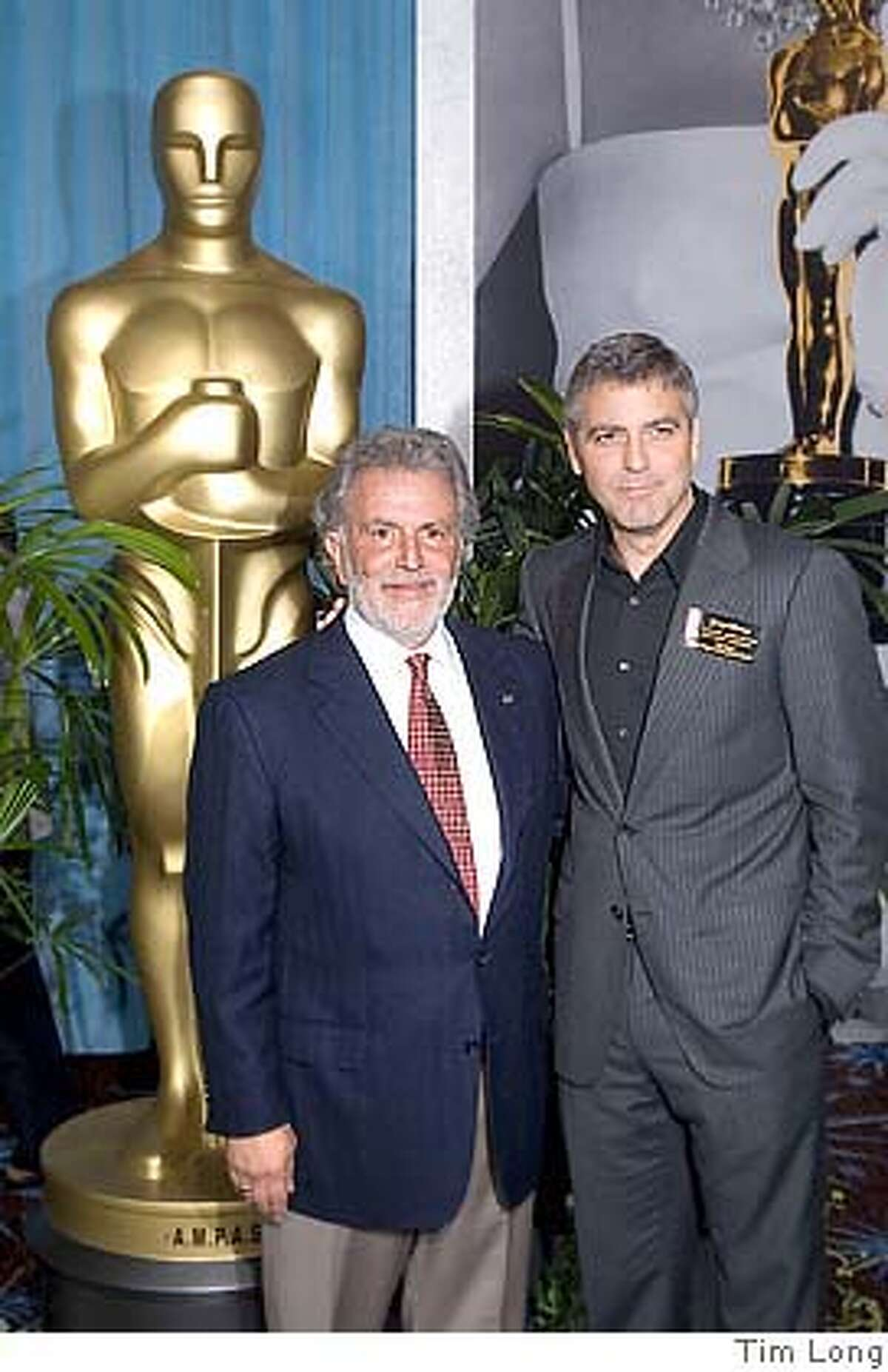 �Academy President Sid Ganis and Oscar winning actor George Clooney at the Nominees Luncheon for the 78th Academy Awards. Photo by TIM LONG DIGITAL IMAGE