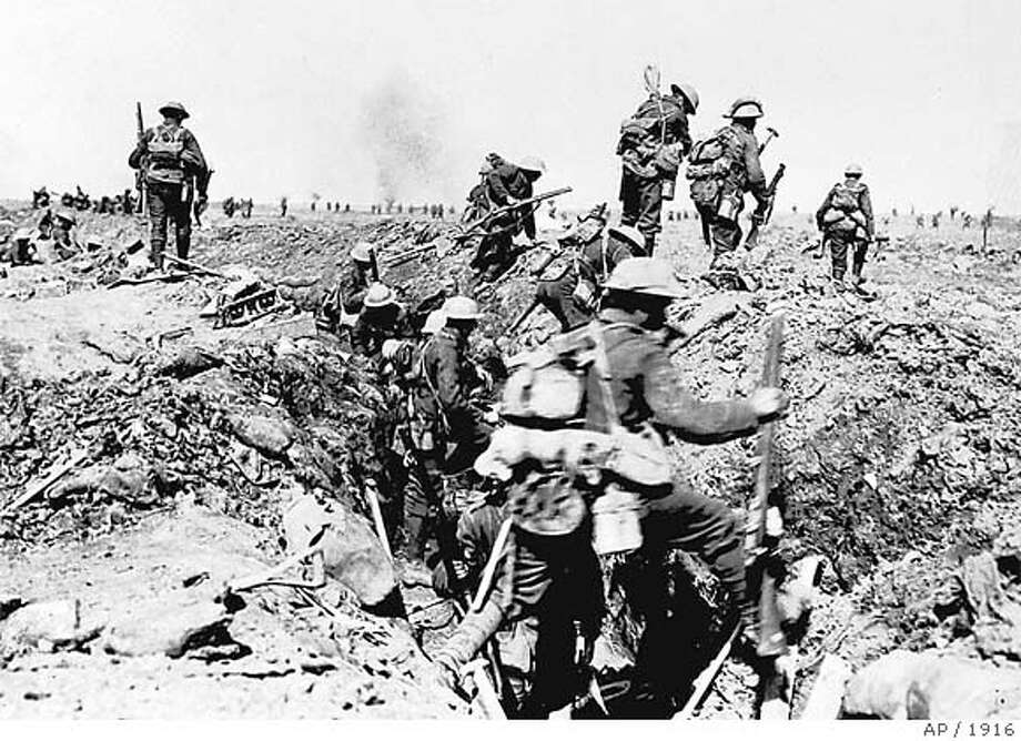 'The big push' in World War I was the Battle of the Somme. The British suffered 20,000 deaths the first day. Associated Press file photo, 1916