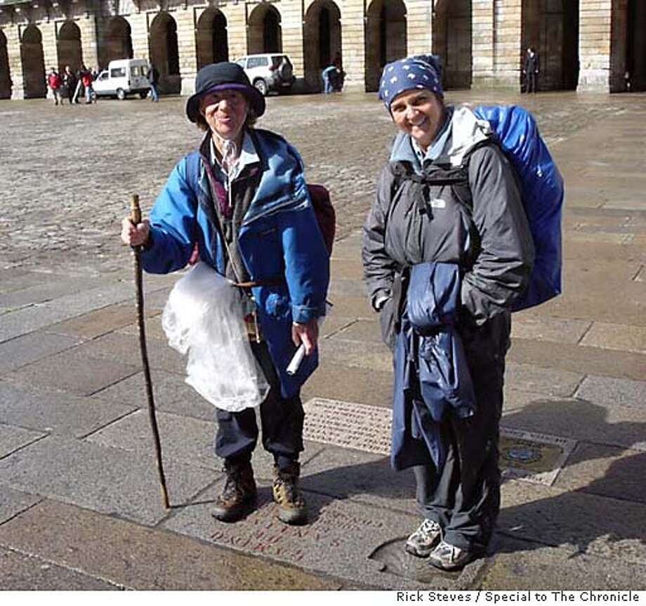 End of the road: Pilgrims hike from all over Europe to Santiago de Compostela in northwest Spain. Photo by Rick Steves, special to the Chronicle