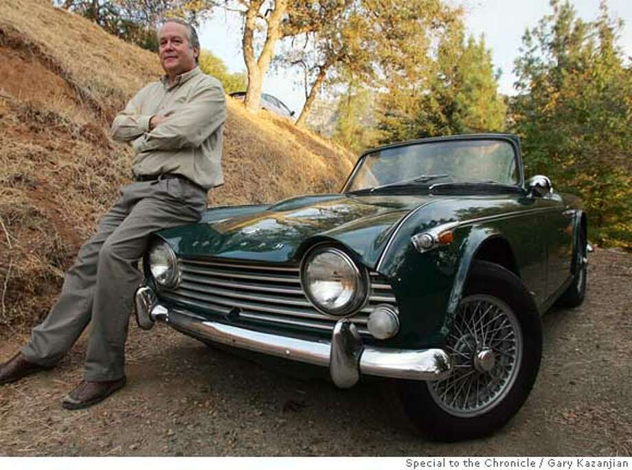 Bob Burke of Three Rivers, Calif. is shown with his 1966 Triumph TR4A on Monday, Oct. 23, 2006. Burke has owned his classic since 1974. By GARY KAZANJIAN/SPECIAL TO THE CHRONICLE  Ran on: 01-21-2007  Bob Burke proudly shows off his 1966 Triumph TR4A, which he has owned since 1974 -- Lucas electrics and all.  Ran on: 01-21-2007 Ran on: 01-21-2007 Ran on: 01-21-2007 Photo: Gary Kazanjian