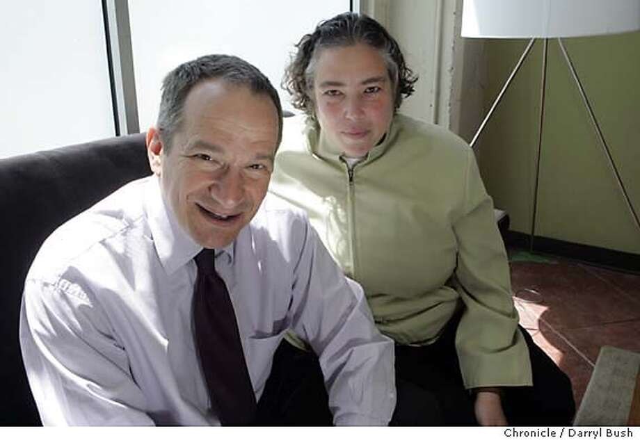 Peter Stein, director of the S. F. Jewish Film Festival, and Nancy Fishman of the festival together in their office lobby.  Event on 7/6/05 in San Francisco.  Darryl Bush / The Chronicle Photo: Darryl Bush