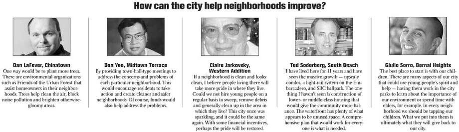 How can the city help neighborhoods improve?