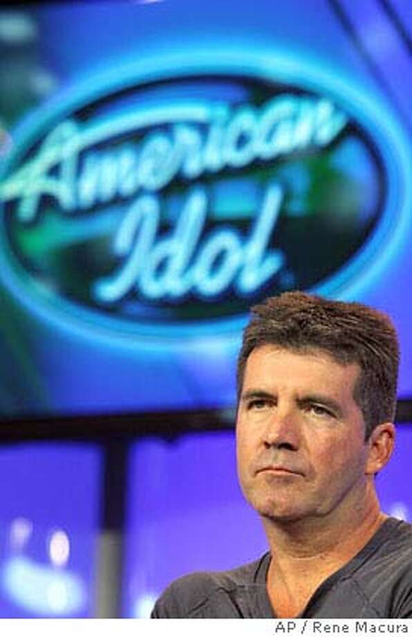 """American Idol"" judge Simon Cowell listens to a question during the 2007 Fox Winter Press Tour, Saturday, Jan. 20, 2007, in Pasadena, Calif. (AP Photo/Rene Macura) Photo: Rene Macura"
