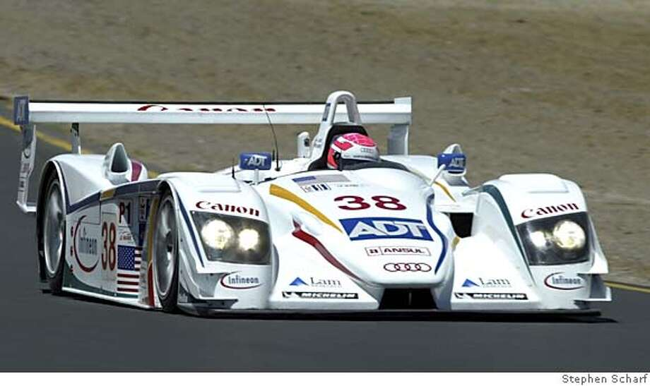 Action shot is of the Champion Racing Audi that JJ Lehto drives. Action shot: PHOTO BY STEPHEN SCHARF Photo: STEPHEN SCHARF