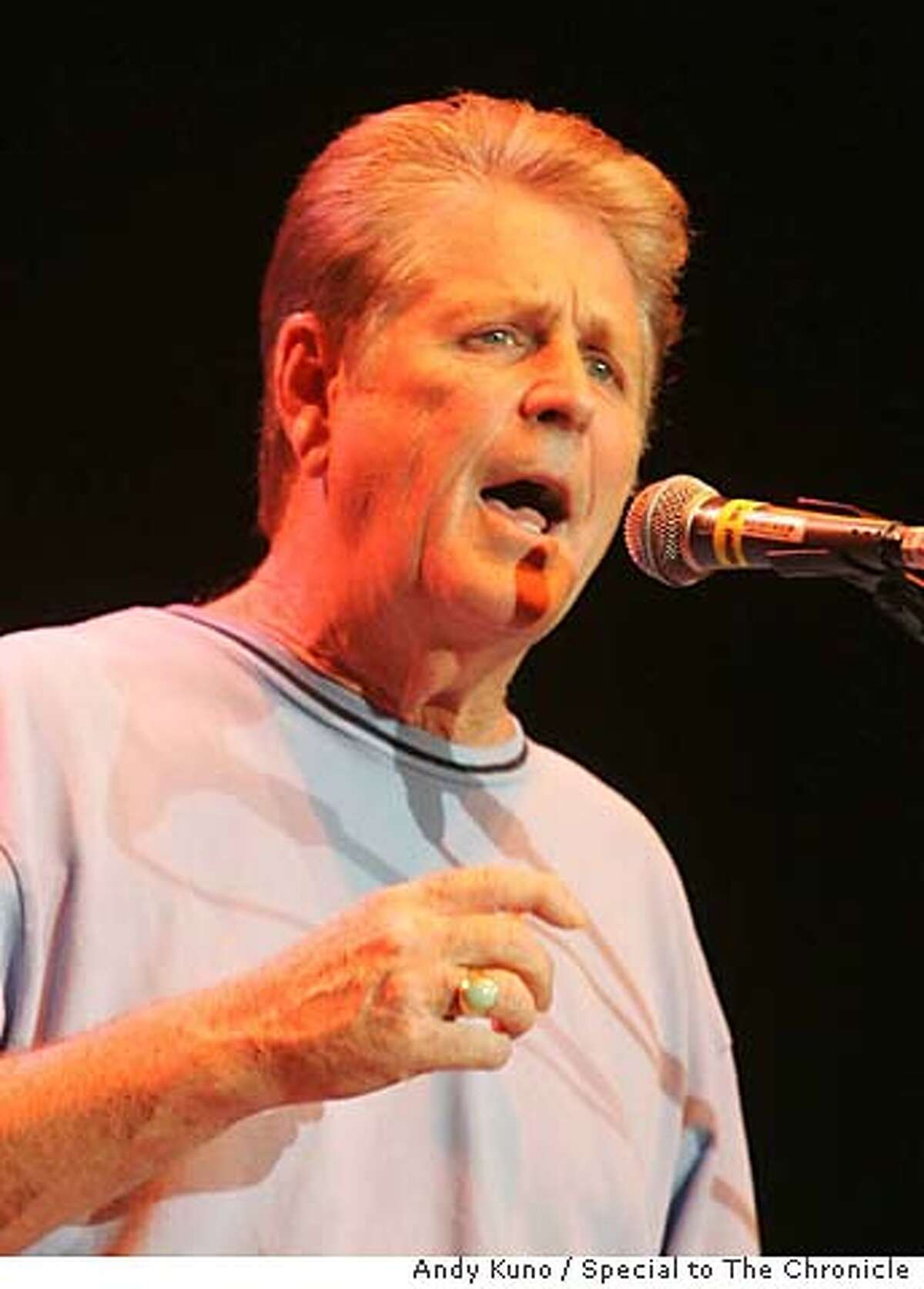 Brian Wilson sings at the Bridge School Benefit Concert at the Shoreline Amphitheatre in Mountain View, Calif. Saturday October 21, 2006. By ANDY KUNO/SPECIAL TO THE CHRONICLE